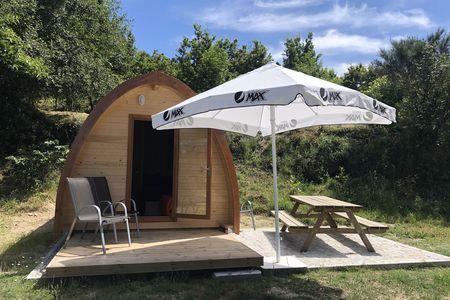 Een `cabana`, een houten huisje